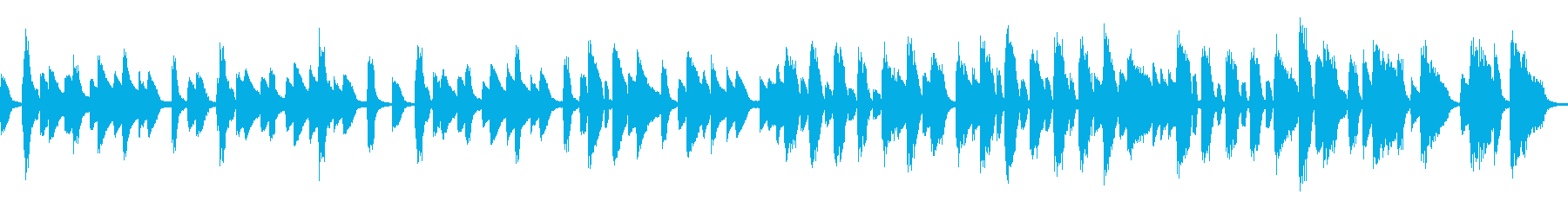 おしゃれなバーをイメージしたピアノソロの再生済みの波形