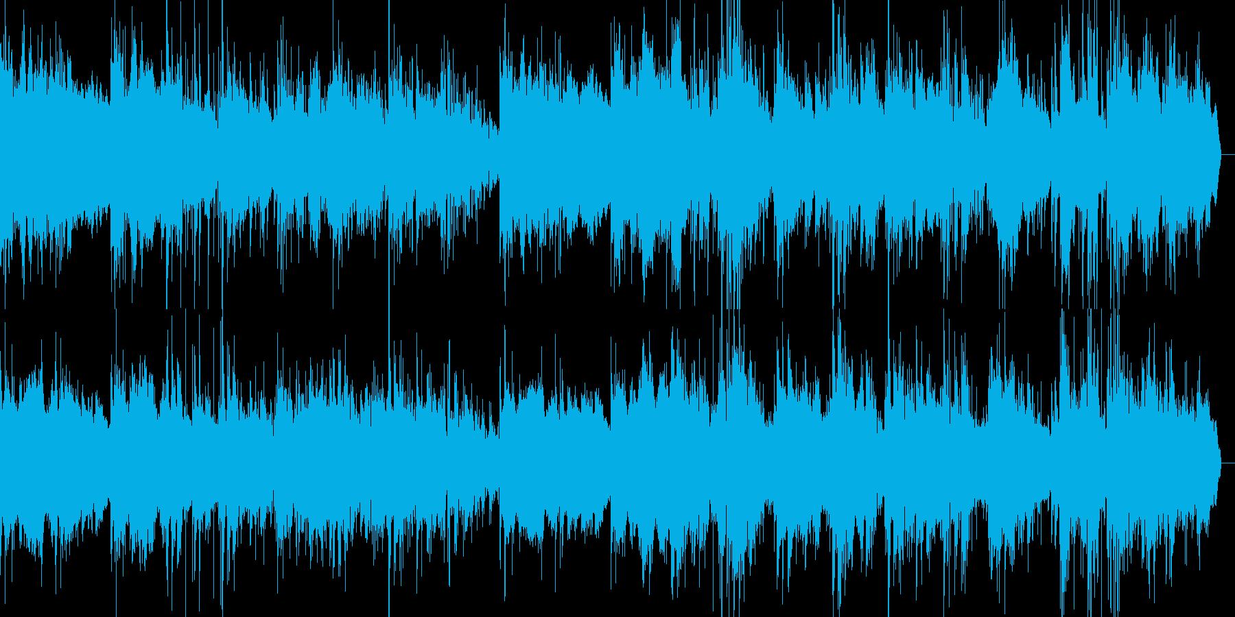 森の朝をイメージしたヒーリング音楽の再生済みの波形