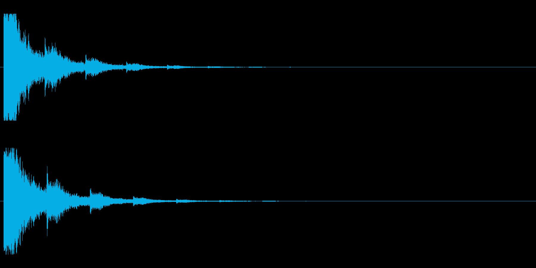 レーザー音-03-2の再生済みの波形