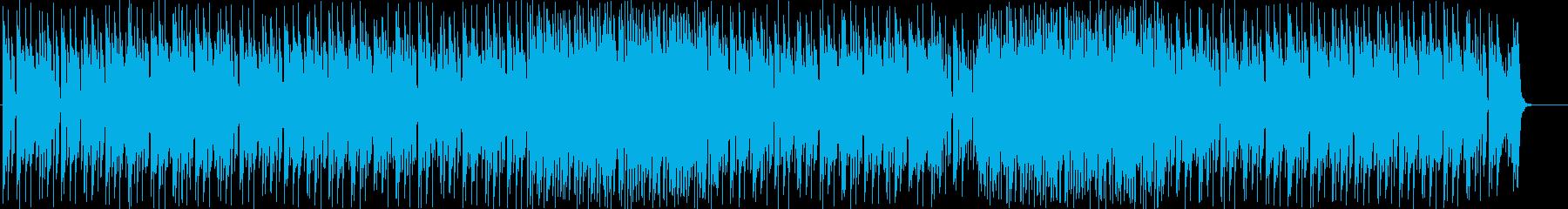 速いテンポのシンセサイザーサウンドの再生済みの波形
