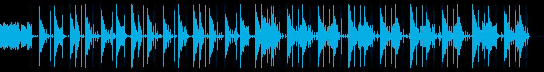キックなし、146 BPMの再生済みの波形