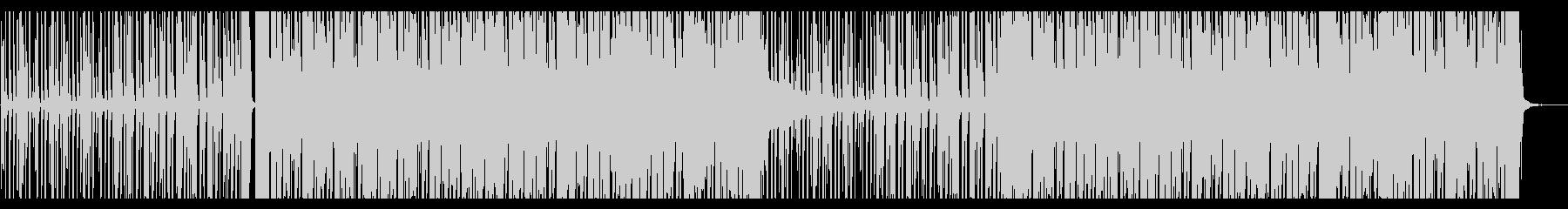 流れ星のようなBGMの未再生の波形