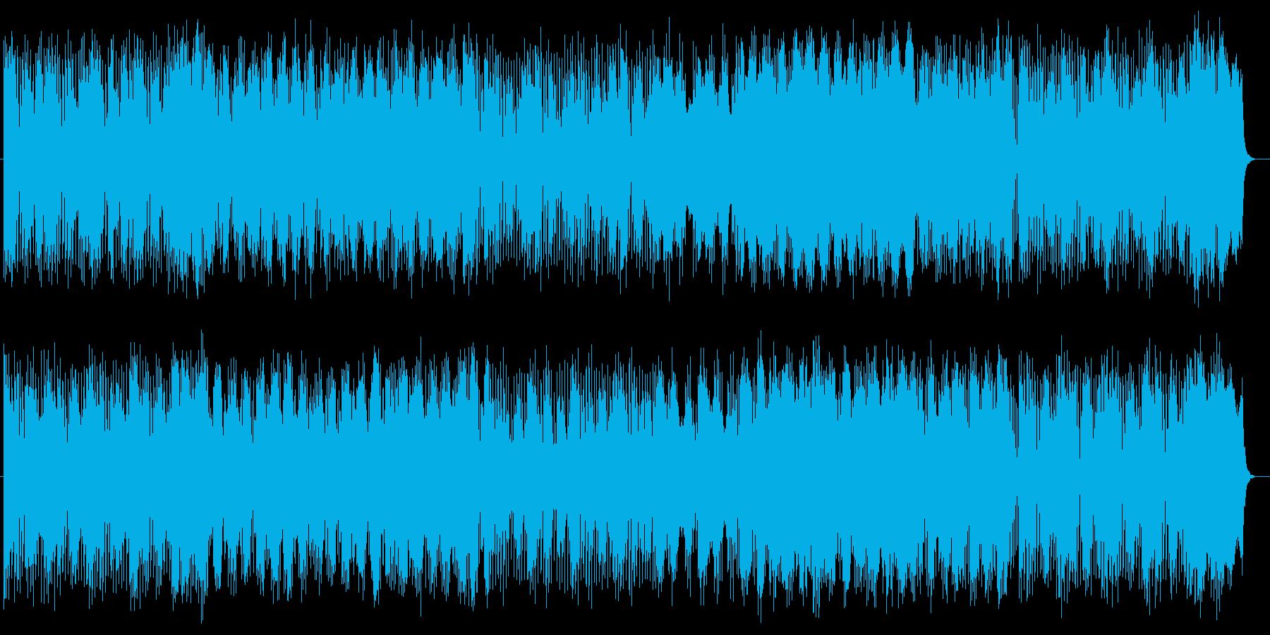 激しく勢いのあるリズムによるポップスの再生済みの波形