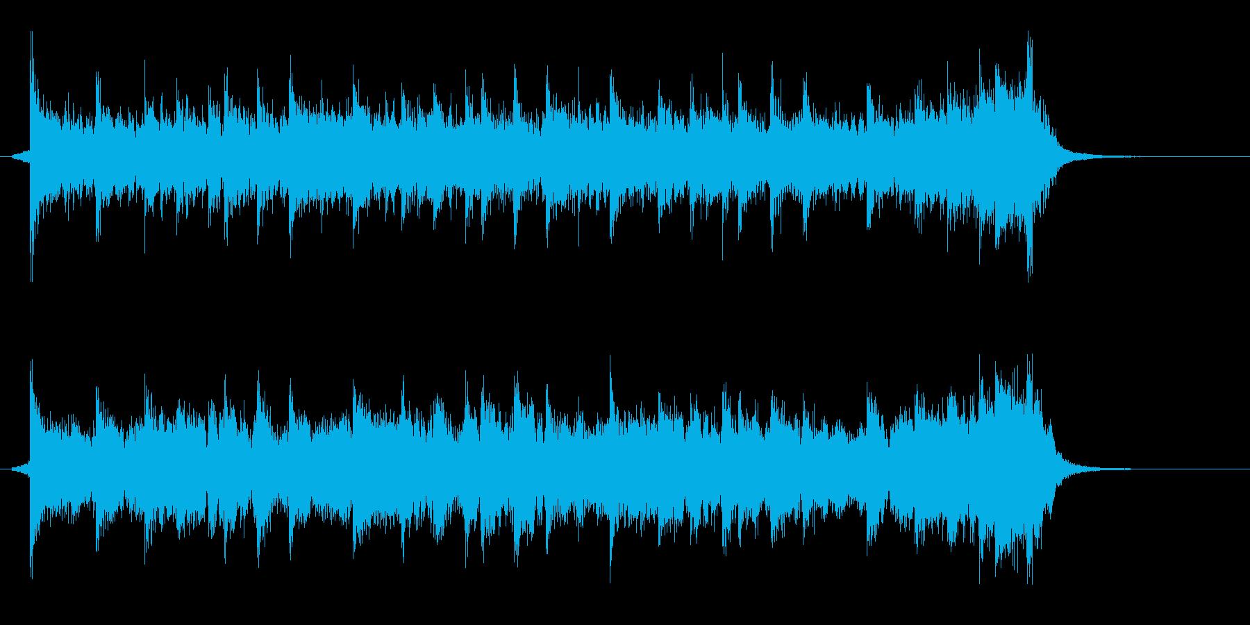 宇宙っぽいシンセメロディーのジングルの再生済みの波形
