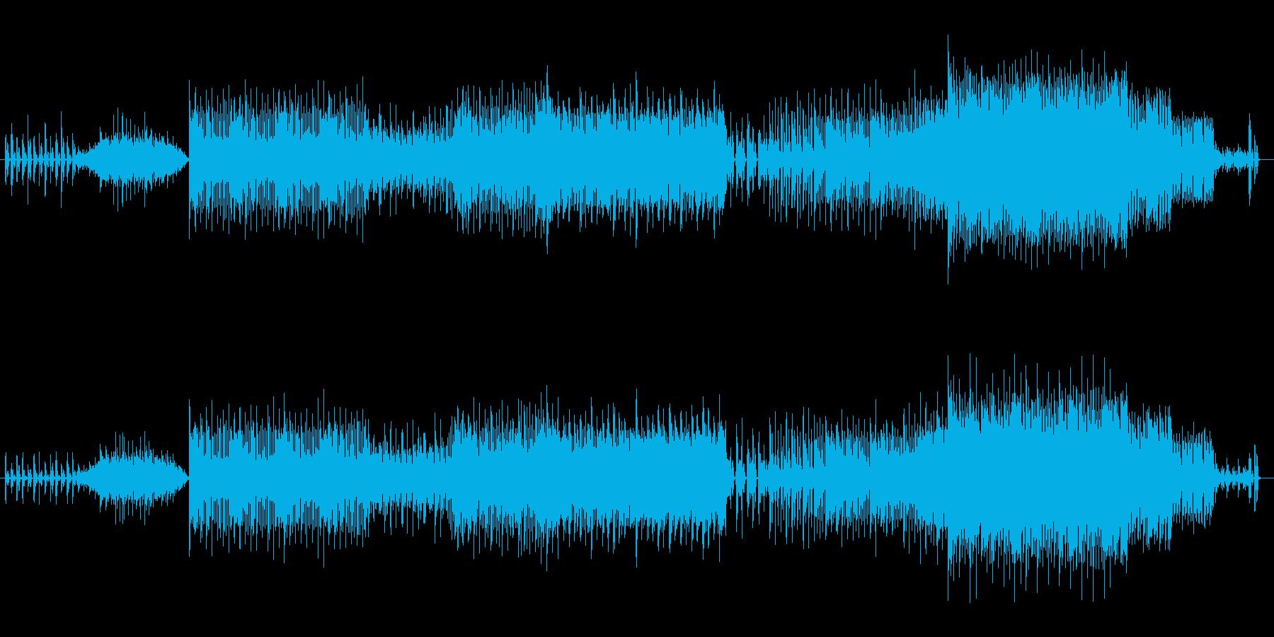 ユーモラスでゲーム向けなミニマルテクノの再生済みの波形