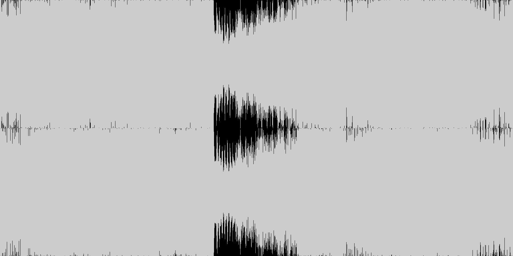 健やかでパーカッシヴなテクノ■ループ版の未再生の波形
