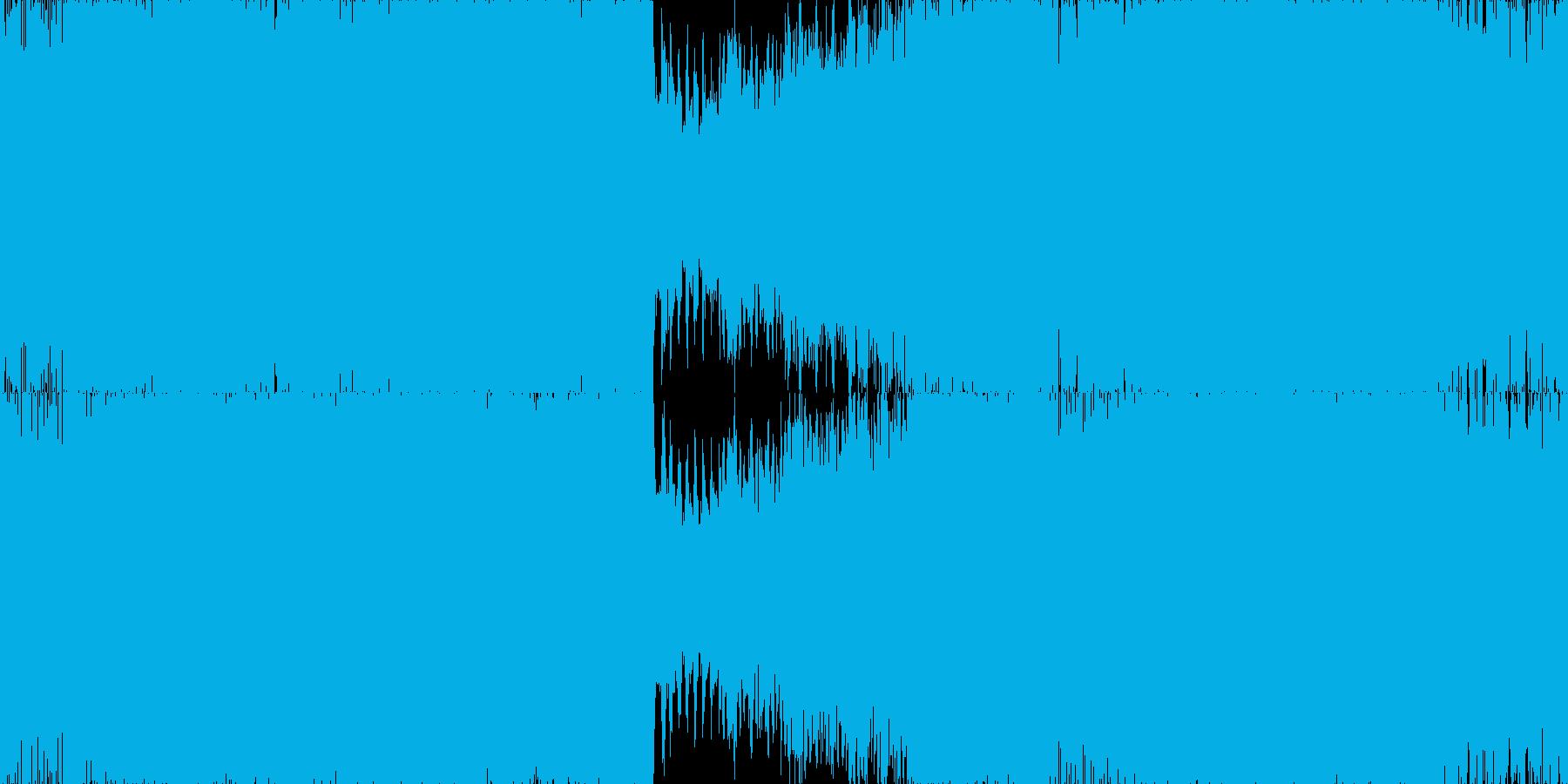 健やかでパーカッシヴなテクノ■ループ版の再生済みの波形