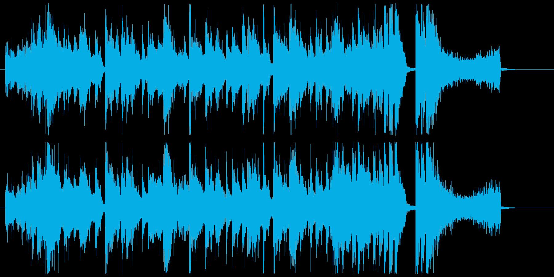【ゲスト登場のBGM】陽気なラテンポップの再生済みの波形
