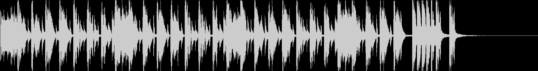 ハッピーな雰囲気のジングルv2(20秒)の未再生の波形
