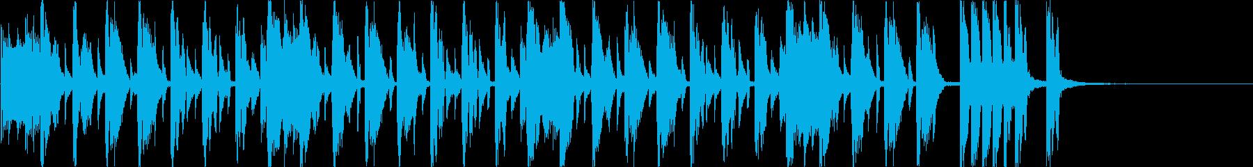 ハッピーな雰囲気のジングルv2(20秒)の再生済みの波形