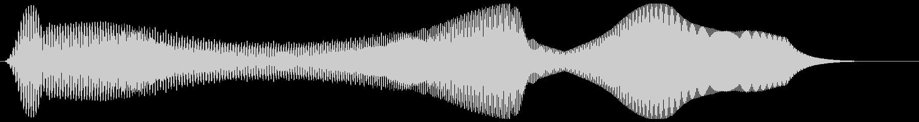 モーン(シンプルで電子的な効果音)の未再生の波形