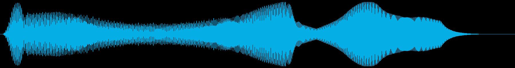 モーン(シンプルで電子的な効果音)の再生済みの波形