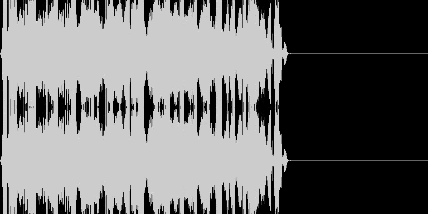 キュルキュル(VHS)の未再生の波形
