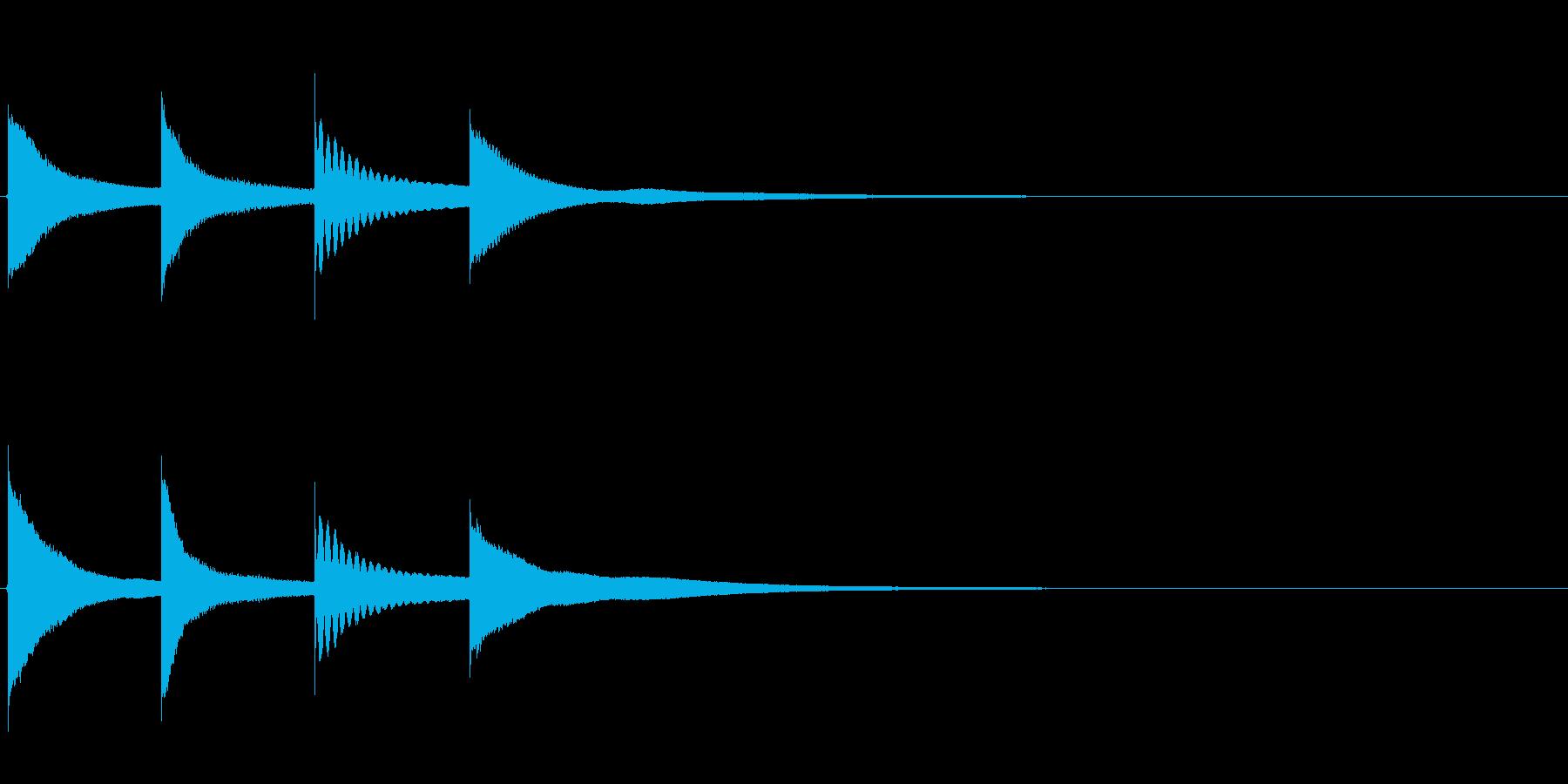 【チャイム アナウンス01-up1】の再生済みの波形