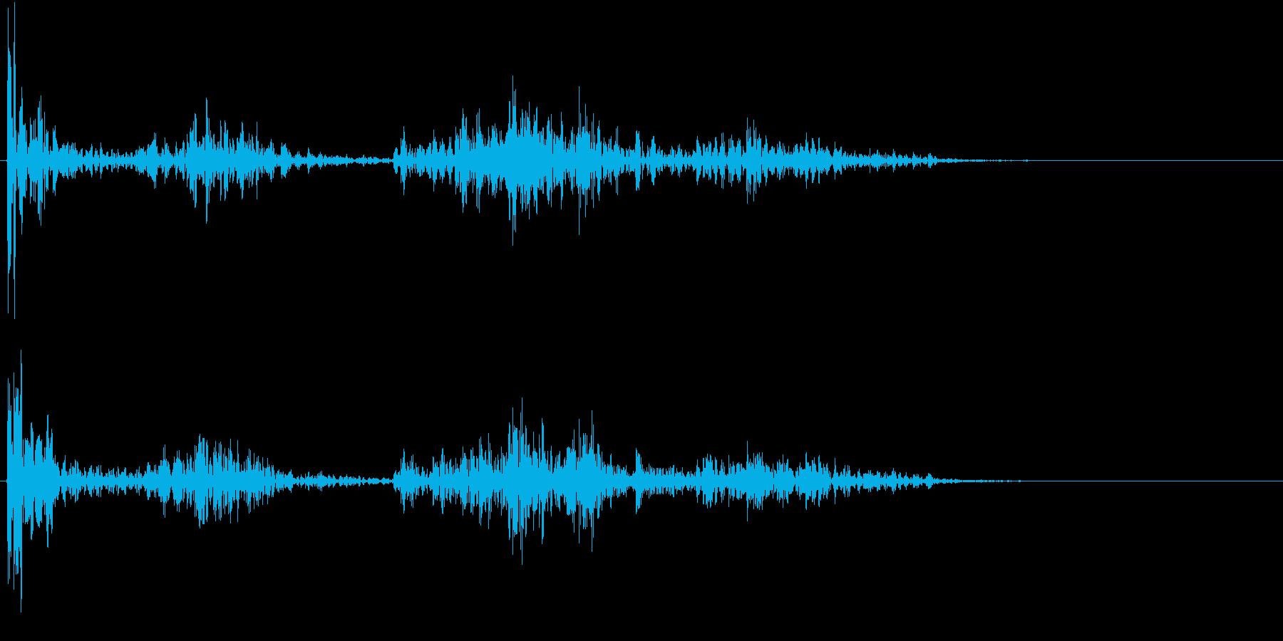【生録音】ペンで書く音 机 4の再生済みの波形