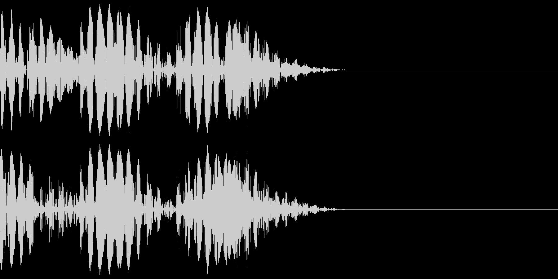ブニョニョ(マイナスイメージ_毒_連続)の未再生の波形