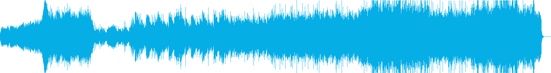 シンセ&オーケストラの癒しリラックス曲の再生済みの波形