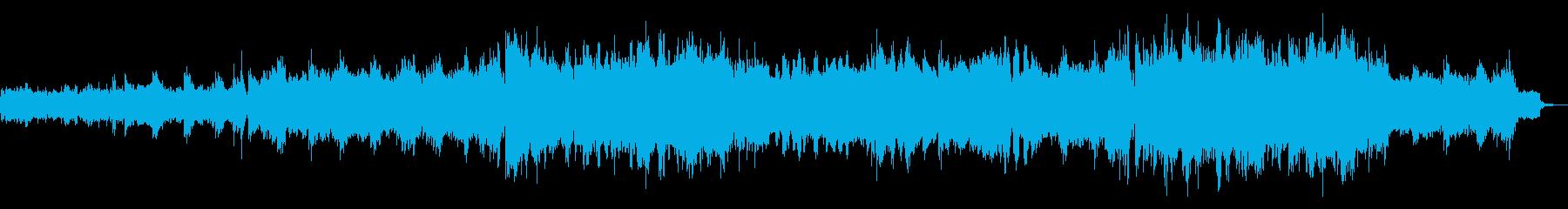 生命の誕生に合うようなBGMの再生済みの波形
