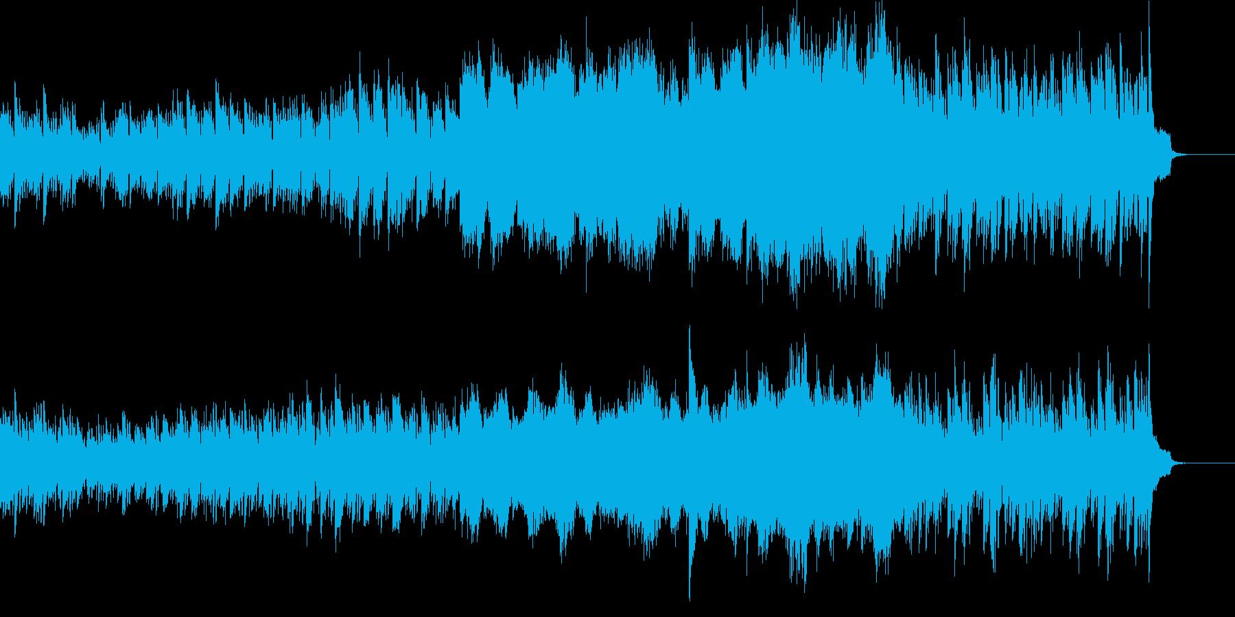 波のようなピアノの映像用BGMの再生済みの波形