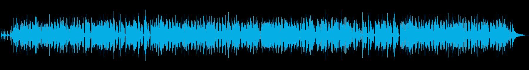 カフェミュージック風なライトジャズの再生済みの波形