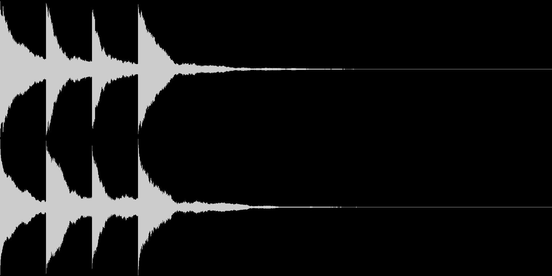アナウンスの開始音 の未再生の波形
