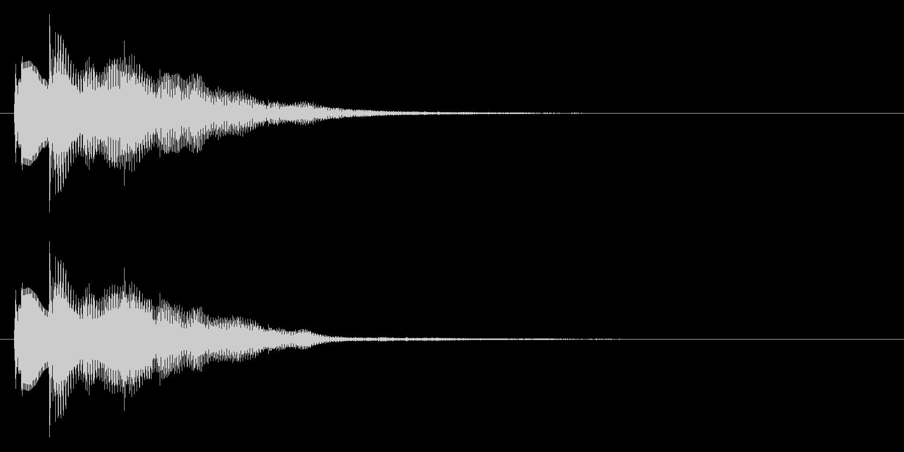おしゃれなセレクト・ポーズ・決定音2 短の未再生の波形