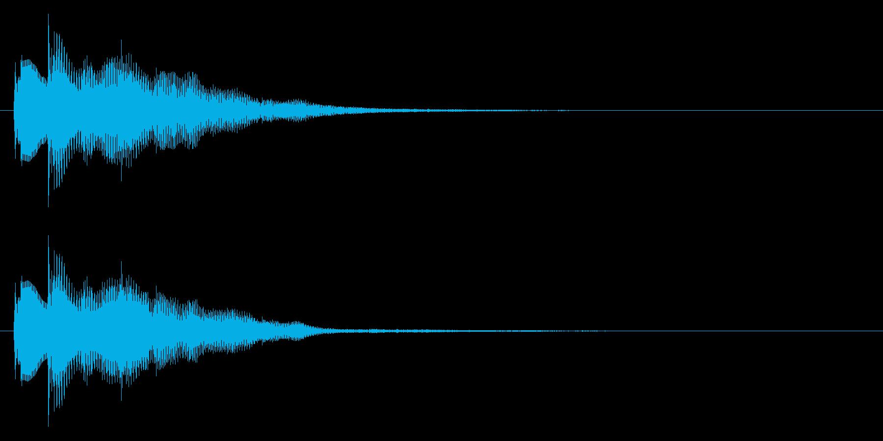 おしゃれなセレクト・ポーズ・決定音2 短の再生済みの波形