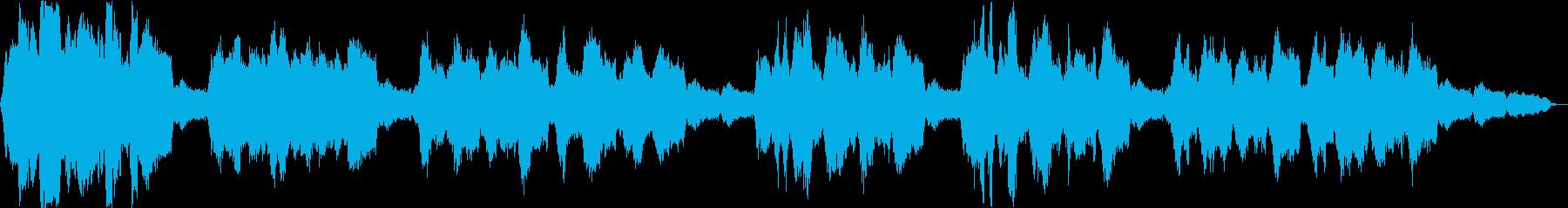 穏やかなリラクゼーション曲の再生済みの波形