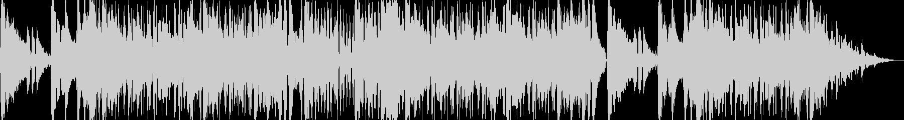 爽やかで疾走感のあるエレクトロBGMの未再生の波形