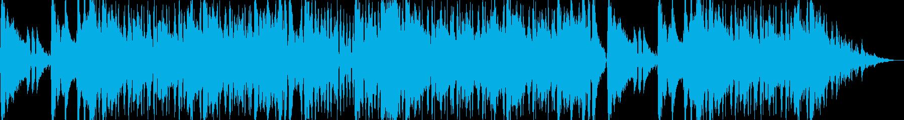 爽やかで疾走感のあるエレクトロBGMの再生済みの波形