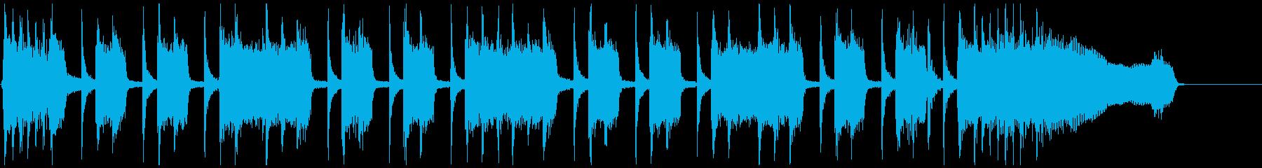 生演奏エレキ 王道ハードロック ジングルの再生済みの波形