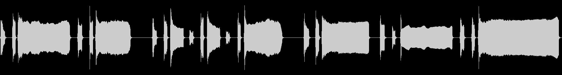 タップ、ロングトランペットバージョンの未再生の波形
