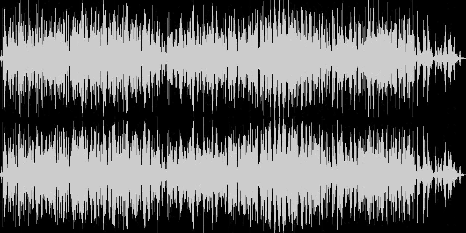 明るく快適なアコースティックジャズの未再生の波形