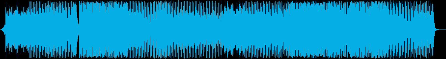 前向きでアクティブなプロモーション映像等の再生済みの波形