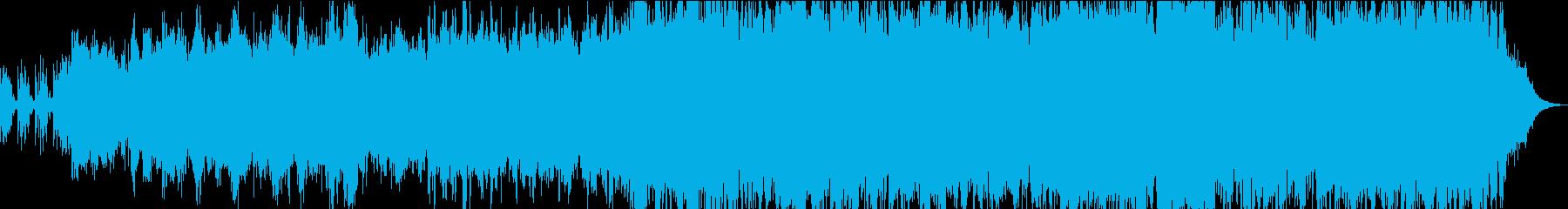 ゆったりしたメロとパーカッションの曲の再生済みの波形
