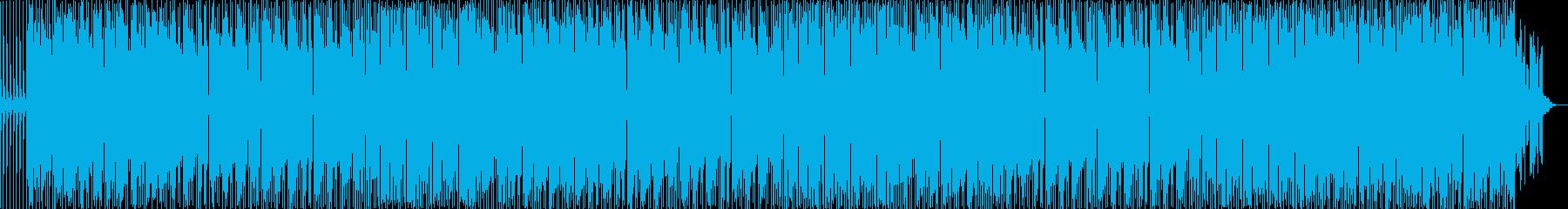 懐かしい感じのテクノポップの再生済みの波形
