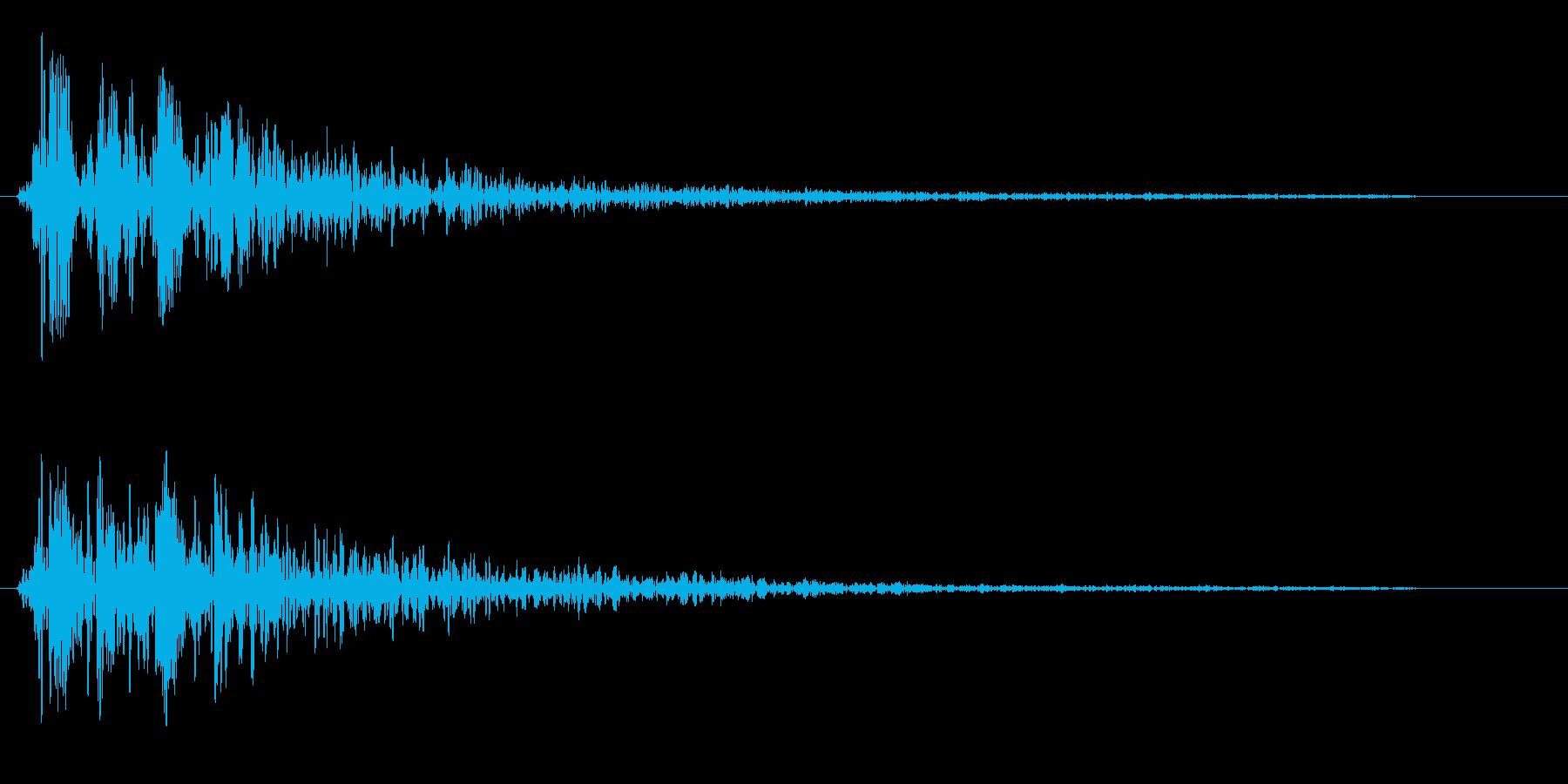 ブワオーン(変化を感じる効果音)の再生済みの波形