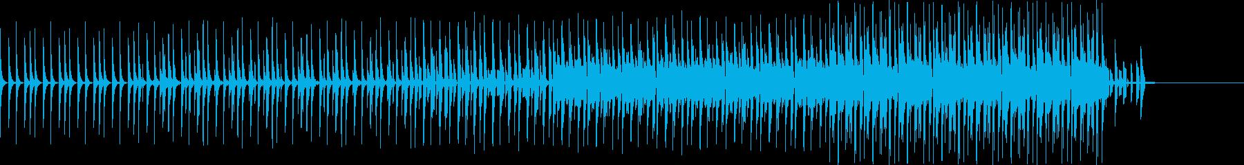 スローテンポスウィングバージョンの再生済みの波形