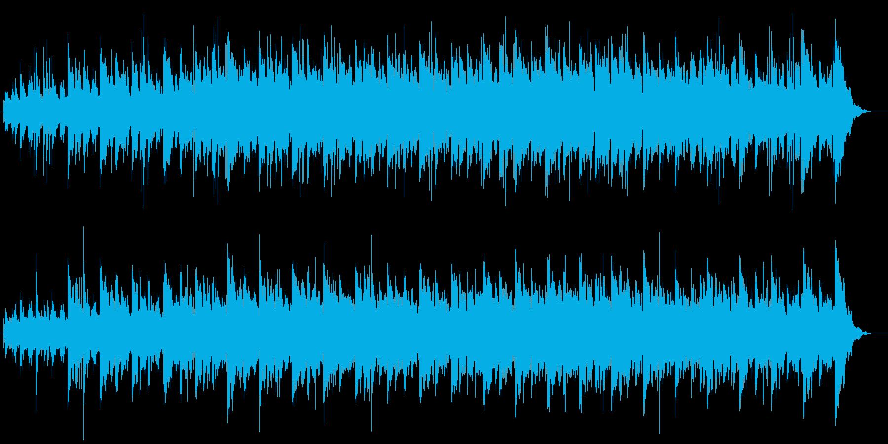 幻想的で神聖なヒーリングミュージックの再生済みの波形