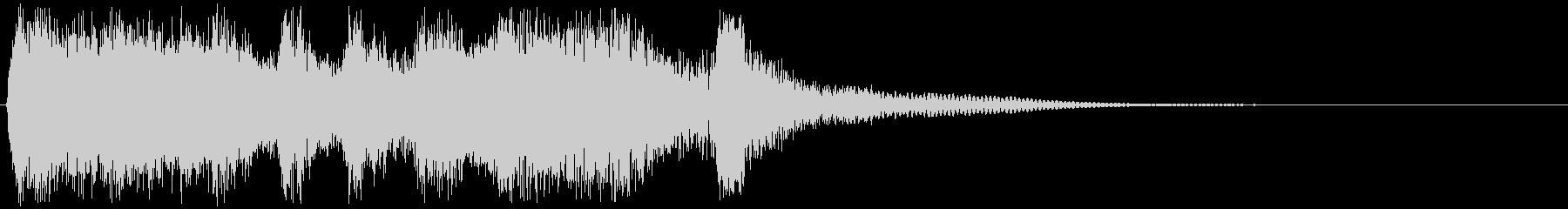 ゲームクリアのジングルの未再生の波形