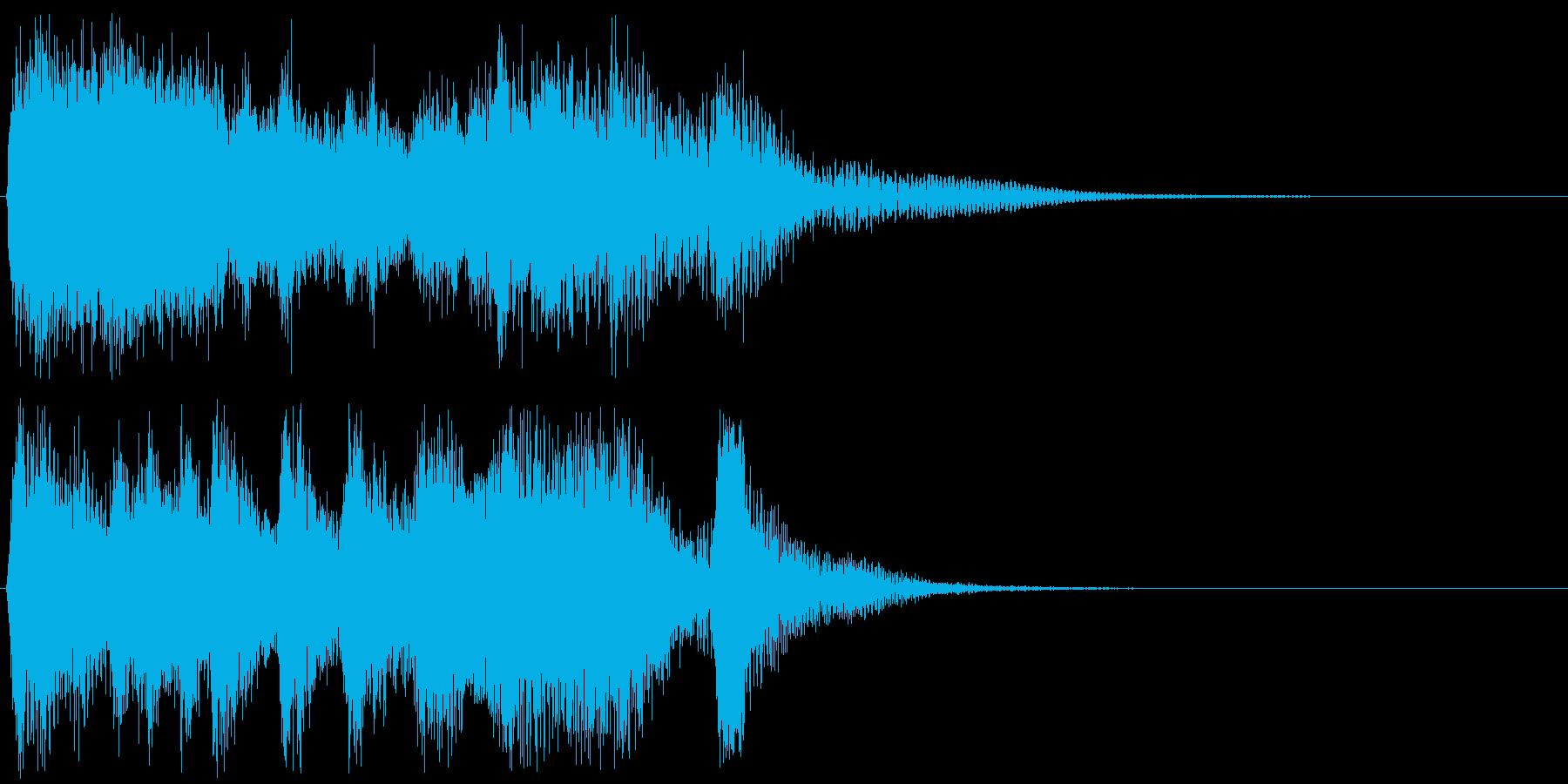 ゲームクリアのジングルの再生済みの波形
