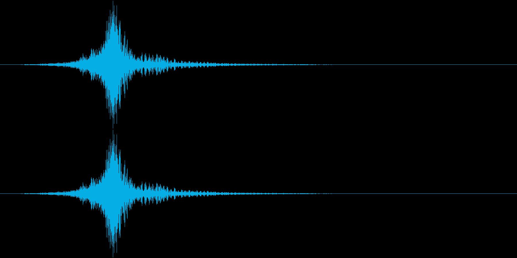 シーンの切り替え(場面転換)の再生済みの波形