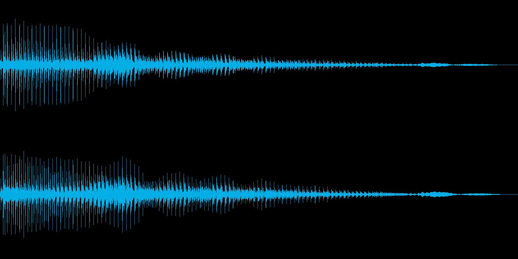 ボヨヨーンと飛び出すの再生済みの波形