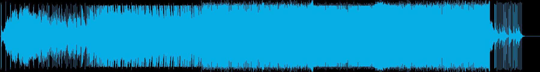 ミステリアスな雰囲気のミニマルの再生済みの波形