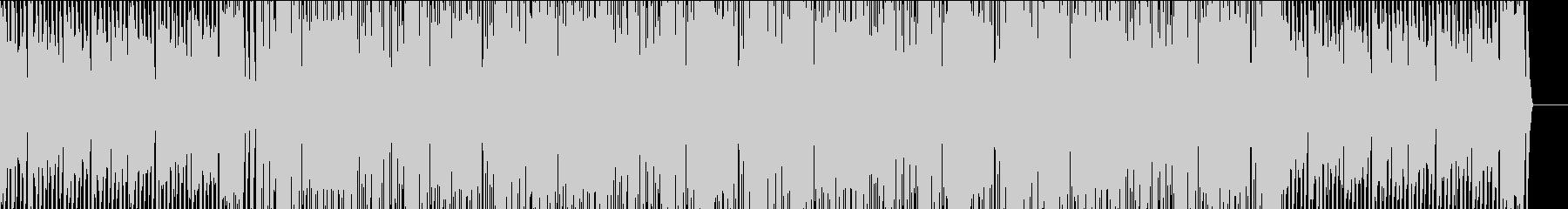 爽やかなピアノが特徴のハウスの未再生の波形