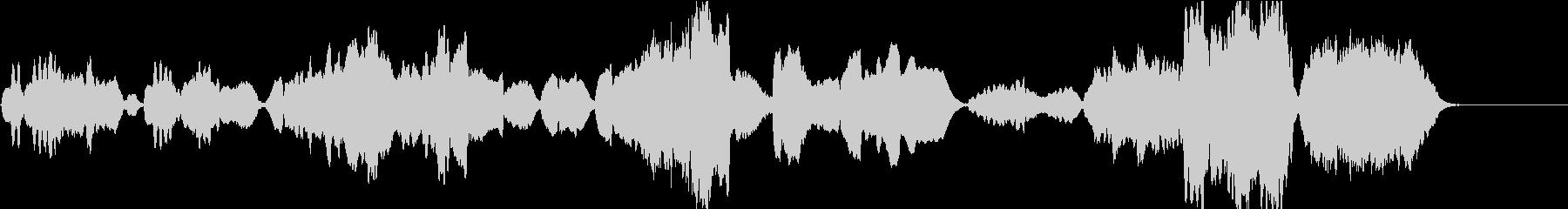 のどかでメルヘン、クラシカルな木管四重奏の未再生の波形