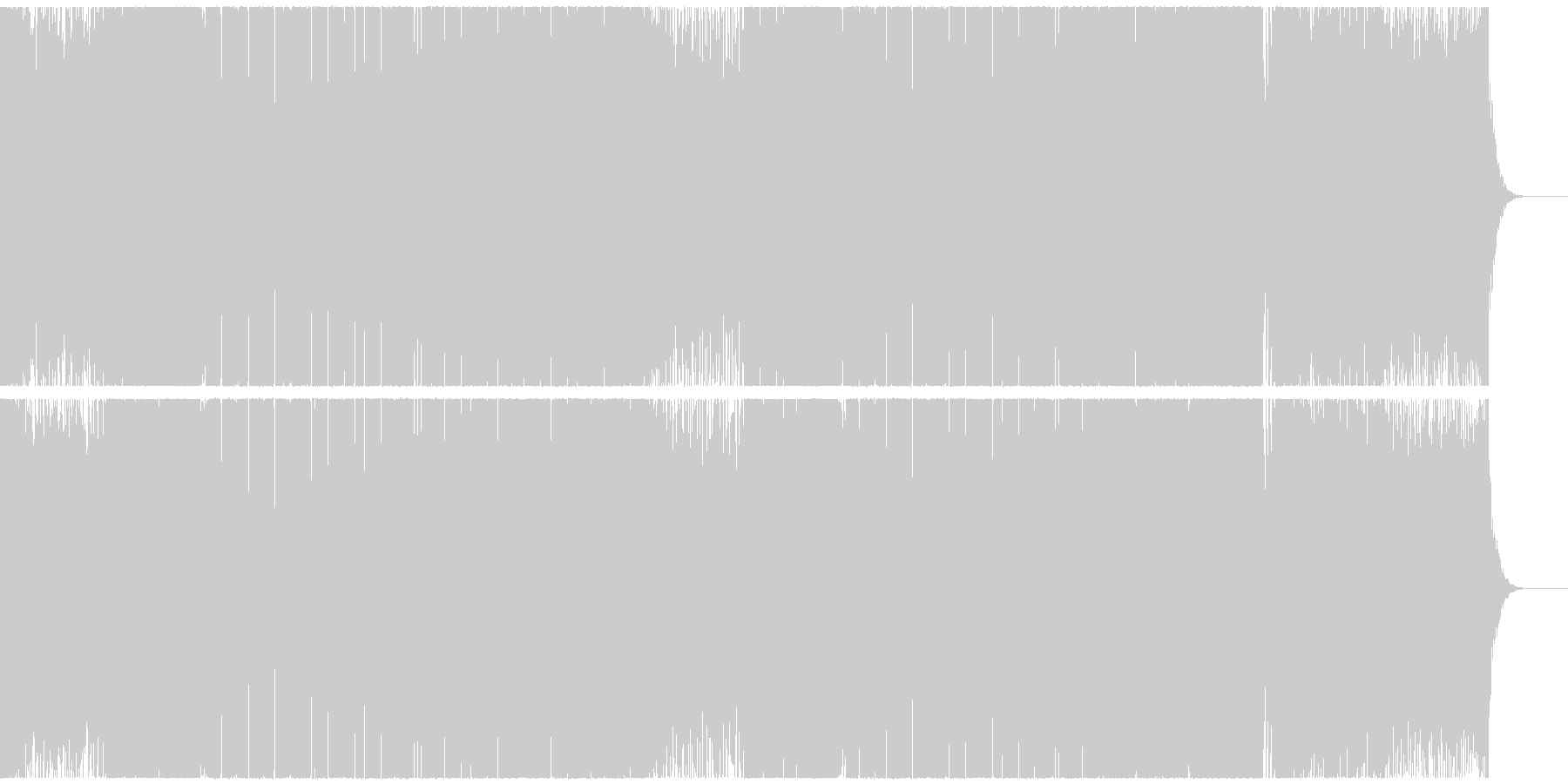 疾走感のあるカラフルなEDMハウスの未再生の波形