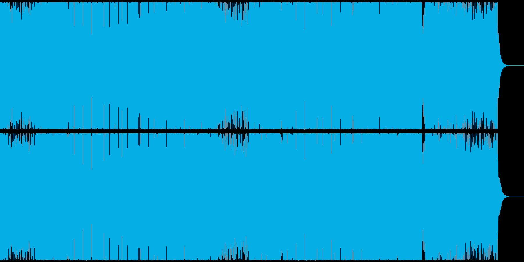 疾走感のあるカラフルなEDMハウスの再生済みの波形