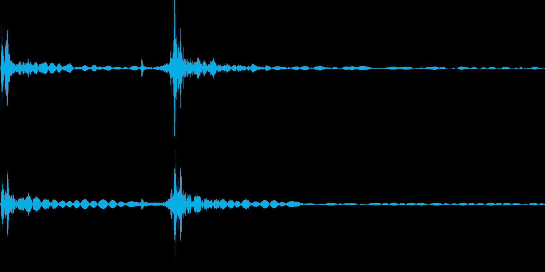カチャ!キーボード,ボタンを押す効果音1の再生済みの波形