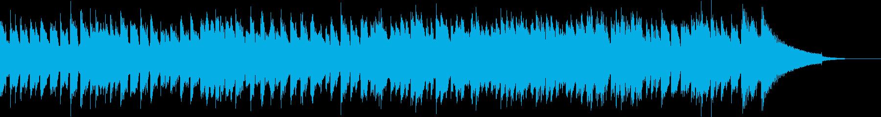 中世ヨーロッパのバロックチェンバロの再生済みの波形